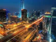 мегаполис, китаянка, ночь