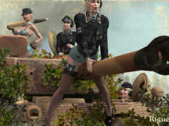 девушки, военные