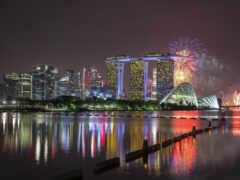 singapore, салют, город