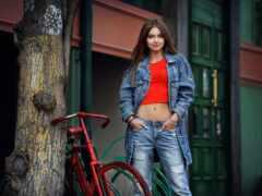 джинсы, модный, женский