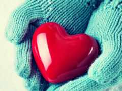 сердце в варежках