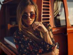 женщина, blonde, sunglasses