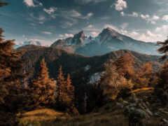 rune, гора, туман