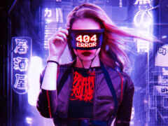 cyberpunk, devushka, moda