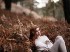 девушка, лес, muse