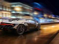 спорткар, скорость, огни