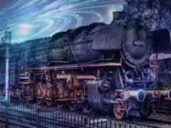поезд, старых, чудесные