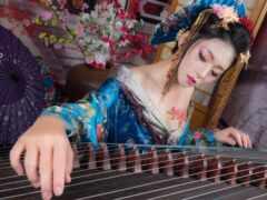 арфа, guzheng, музыка