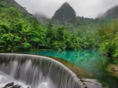китаянка, природа, азии