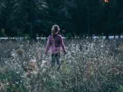 ребенок, девушка, трава