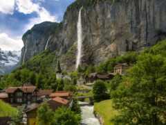 lauterbrunnen, пасть, швейцария