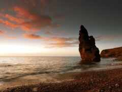 камень, ocean, пляж