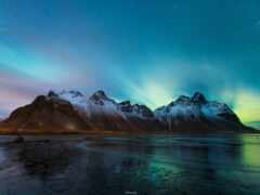 iceland, ночь, небо