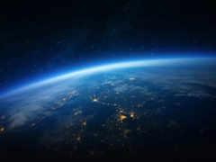 земля вид из космоса ночью