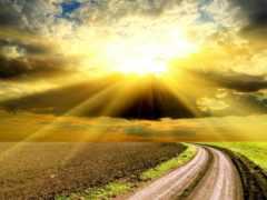 дорога, солнцу, солнца