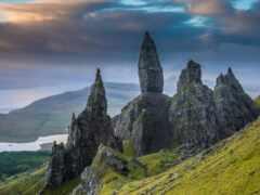 камень, гора, шотландия