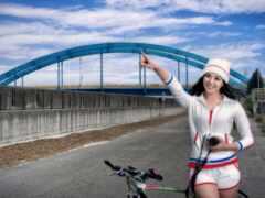 девушка, bike, asian