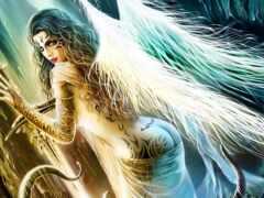 девушка, ангела, fentezti