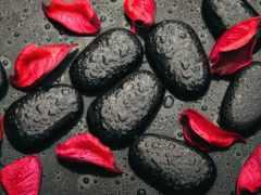 камни, black, лепестки