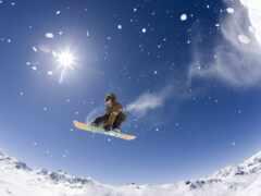 спорт, взгляд, сноуборд