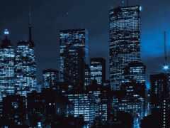 город, ночное, tele