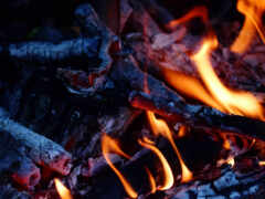 пламя, огонь, campfire