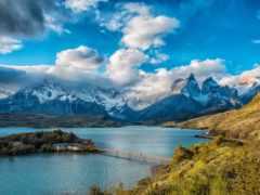 chile, горы, озеро