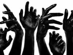 arm, black, white