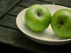 табличка, зелёный, apple