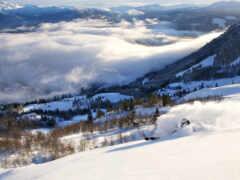 winter, гора, снег