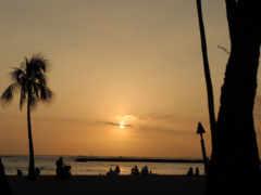praia, noite, imagens