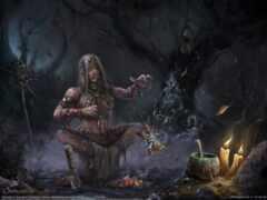 witch, шаман, drawing