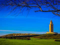 lighthouse, hercules, испания