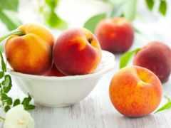 персики, еда, фрукты