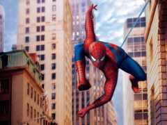 araña, hombre, паук