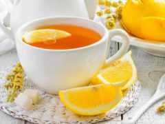 лимоном, чая, чая