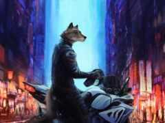 зверь, мотоцикл, victor