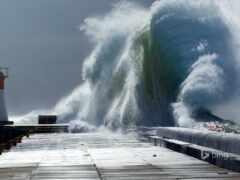 буря, pier, lighthouse