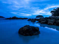 water, blue, rock