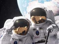 астронавт, funny, космос