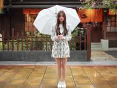 девушка, зонтик, зонтиком