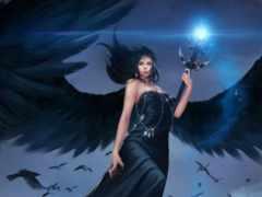 девушка, крыльями, angel