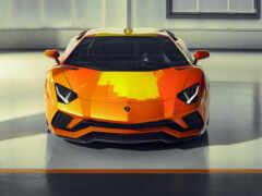 aventador, оранжевый, grey
