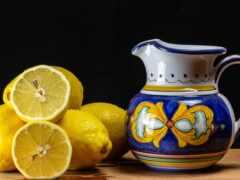 натюрморт, кувшин, lemon