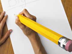 карандаши, простые, желтые