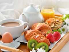 kruassana, завтрак, coffee