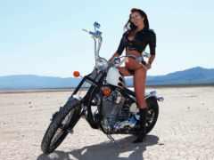 devushki, мотоциклах, rock