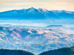 blue, mountains, гора