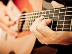 гитара, игра, obuchenie