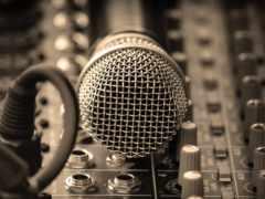 микрофон, металл, сетка
